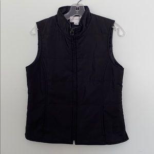 Ladies black vest.
